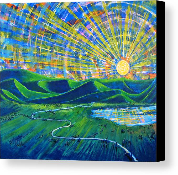 Sun Canvas Print featuring the painting Sunscape by Rollin Kocsis
