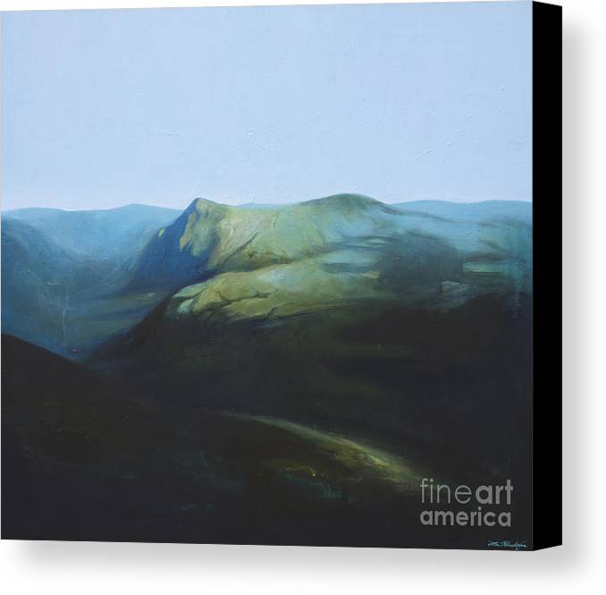 Lin Petershagen Canvas Print featuring the painting The View From Mount Tron by Lin Petershagen
