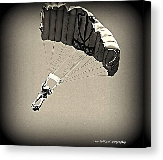 Air Show Canvas Print featuring the photograph Airborne by Kim Loftis