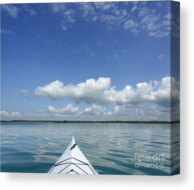 Beautiful Canvas Print featuring the photograph Kayak On Lake Ontario by Gord Horne