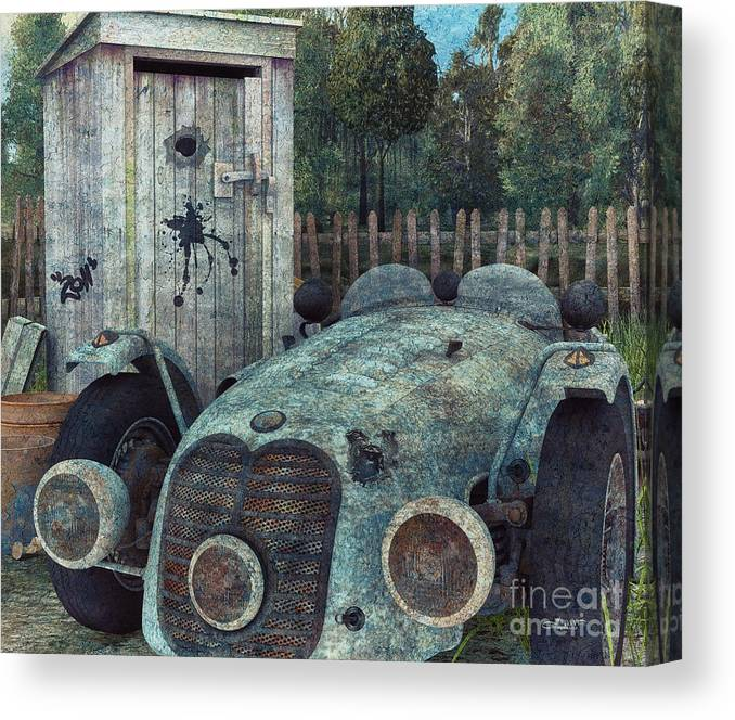 3d Canvas Print featuring the digital art Parking by Jutta Maria Pusl