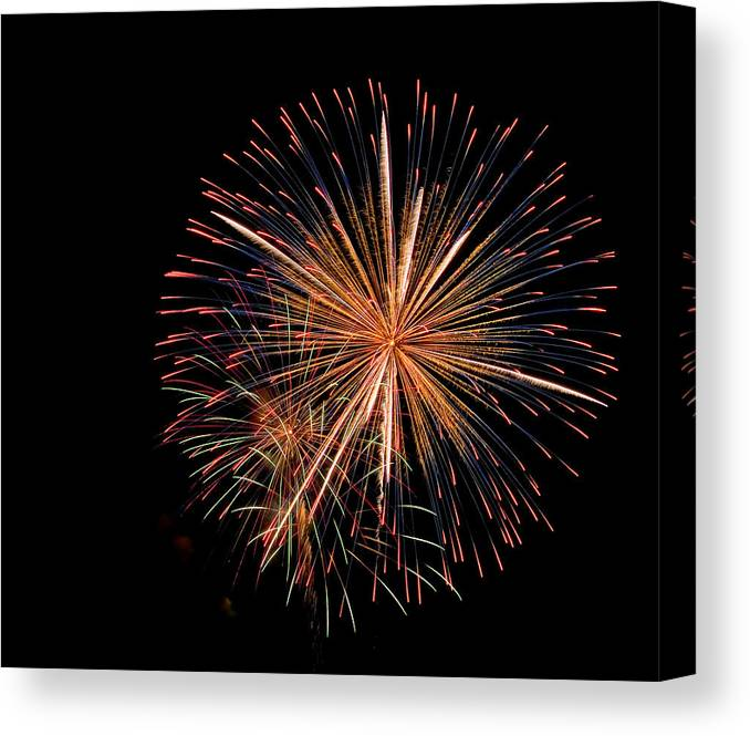 Fireworks Canvas Print featuring the photograph Sparky Flower by Devinder Sangha