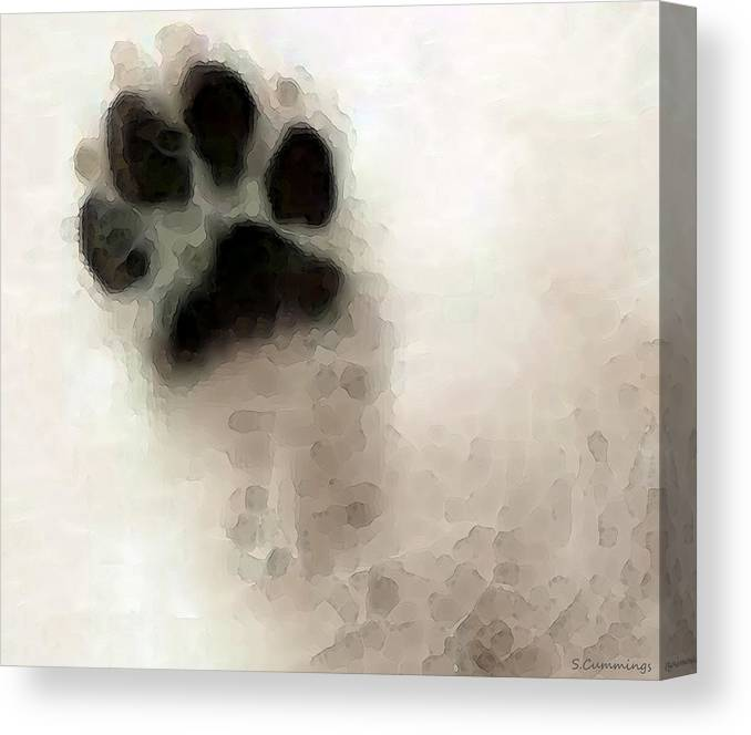 Dog Canvas Print featuring the painting Dog Art - I Paw You by Sharon Cummings