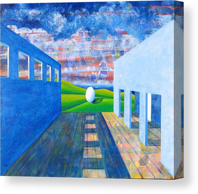 Surrealism Canvas Print featuring the painting Mystery And Memory by Rollin Kocsis