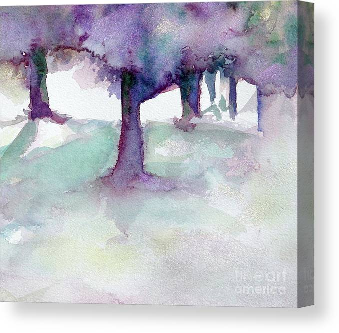 Landscape Canvas Print featuring the painting Purplescape II by Jan Bennicoff