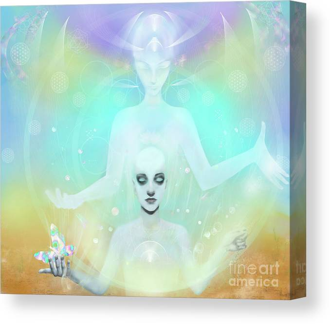 Visionary Canvas Print featuring the digital art A New Dimension Forming by Karen Elsworth-Extradimensional