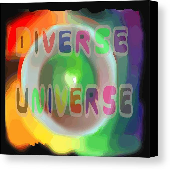 Diverse Canvas Print featuring the painting Diverse Universe by Pharris Art