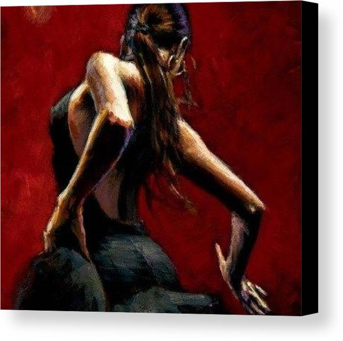 Canvas Print featuring the painting Lets Dance by IAMJNICOLE JanuaryLifeBrand