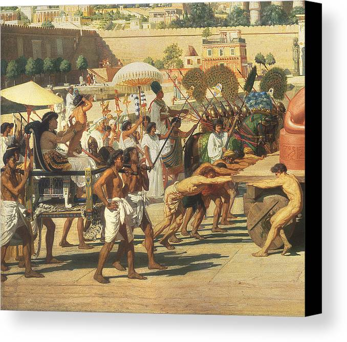 Lioness Canvas Print featuring the painting Israel In Egypt by Sir Edward John Poynter