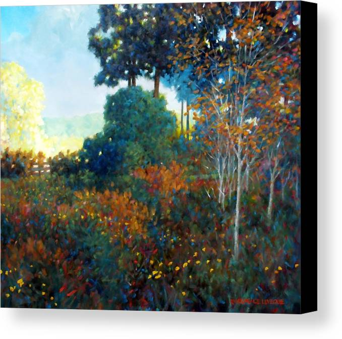 Landscape Canvas Print featuring the painting Back Gate by Kevin Lawrence Leveque