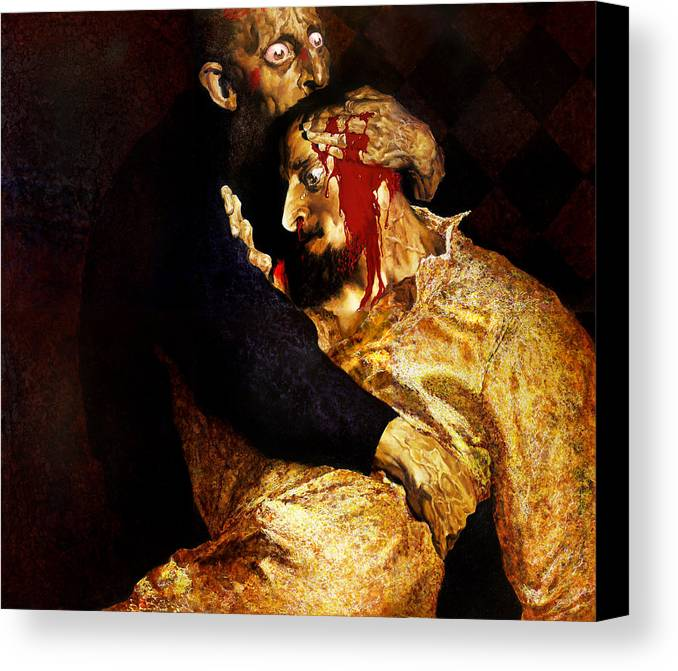 Man Canvas Print featuring the painting Ivan by Valeriy Mavlo