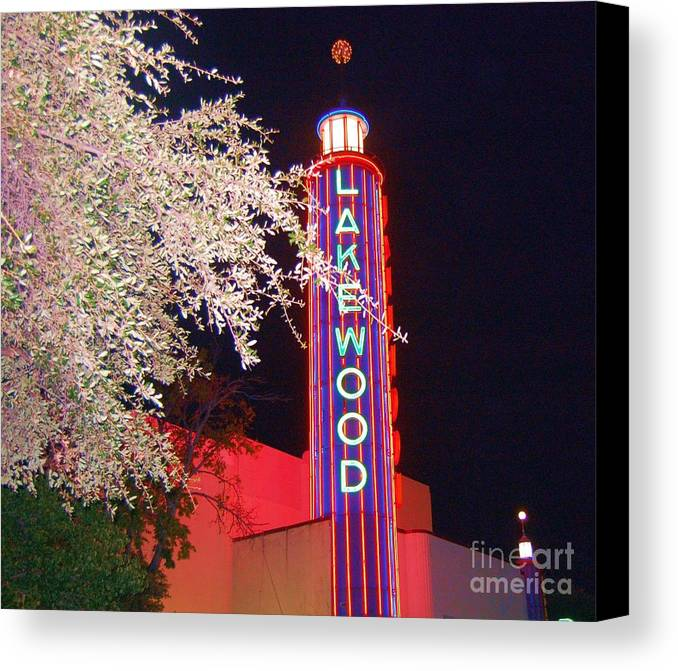 Theater Canvas Print featuring the photograph Lakewood Theater by Debbi Granruth