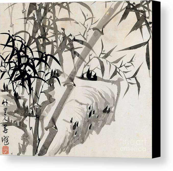 Leaf Canvas Print featuring the painting Leaf C by Rang Tian