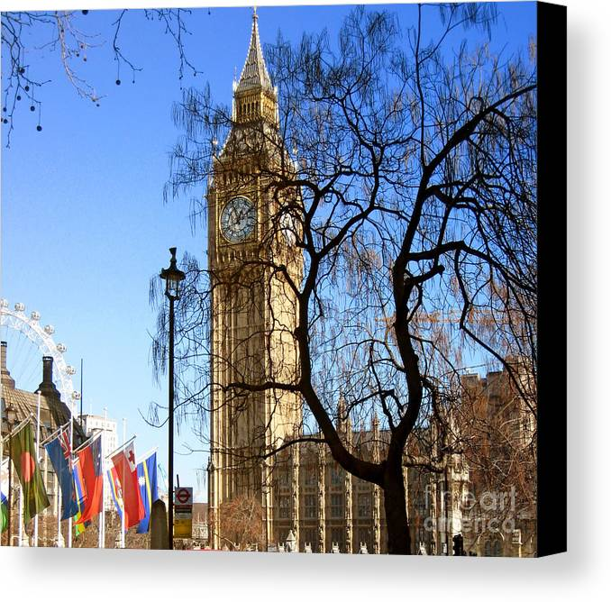 London Canvas Print featuring the photograph London's Big Ben by Madeline Ellis
