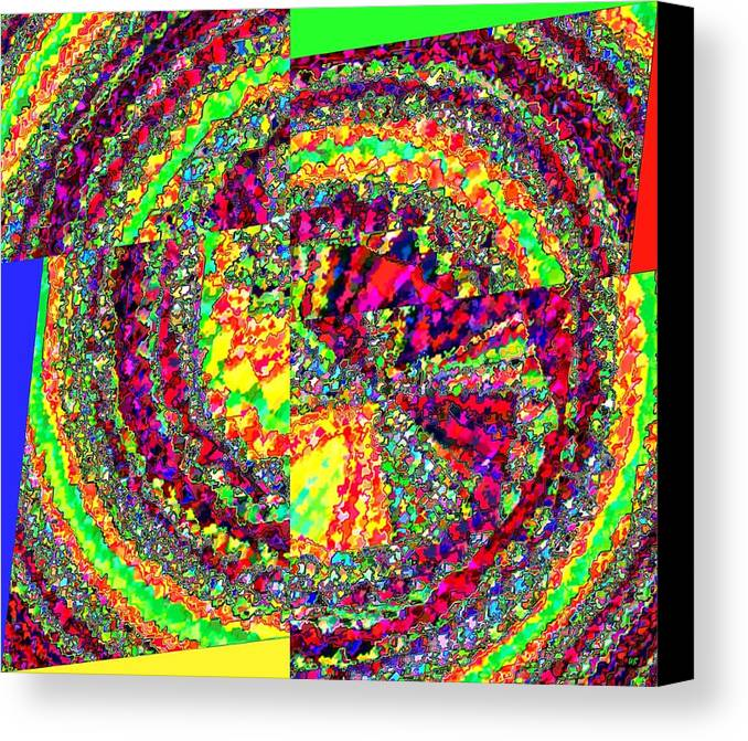 Abstract Canvas Print featuring the digital art Muse 23 by Will Borden