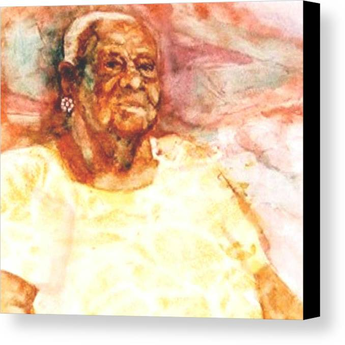 Portrait Canvas Print featuring the painting Nobody Knows The Trouble I by Ruth Mabee