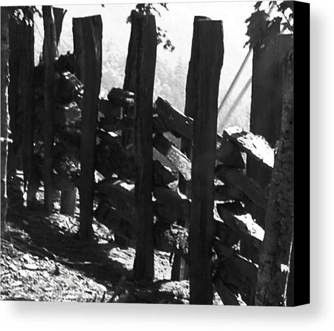 Landscape Canvas Print featuring the photograph Split Rail Fence by Donna Thomas