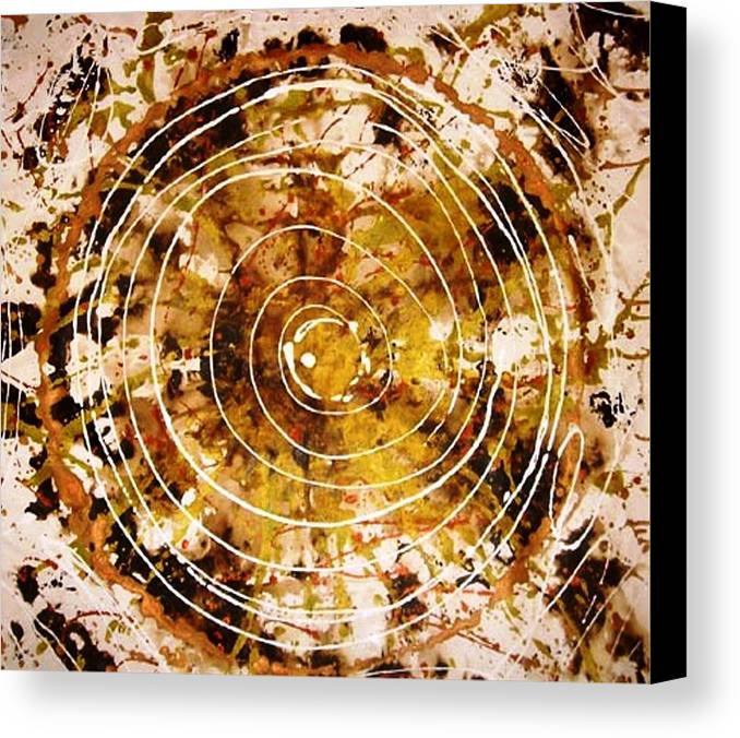 Circlabstracte Canvas Print featuring the painting The Eternal Circle by Baljit Chadha
