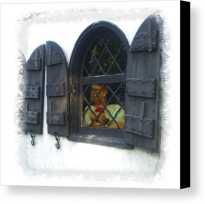 Window Canvas Print featuring the photograph Waiting For You by Scarlett Royal