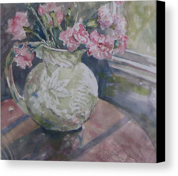 Canvas Print featuring the painting Windowview by Dorothy Herron