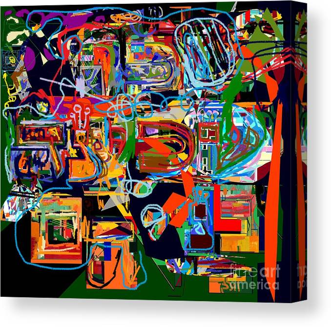 Torah Canvas Print featuring the digital art Divinely Blessed Marital Harmony 25 by David Baruch Wolk