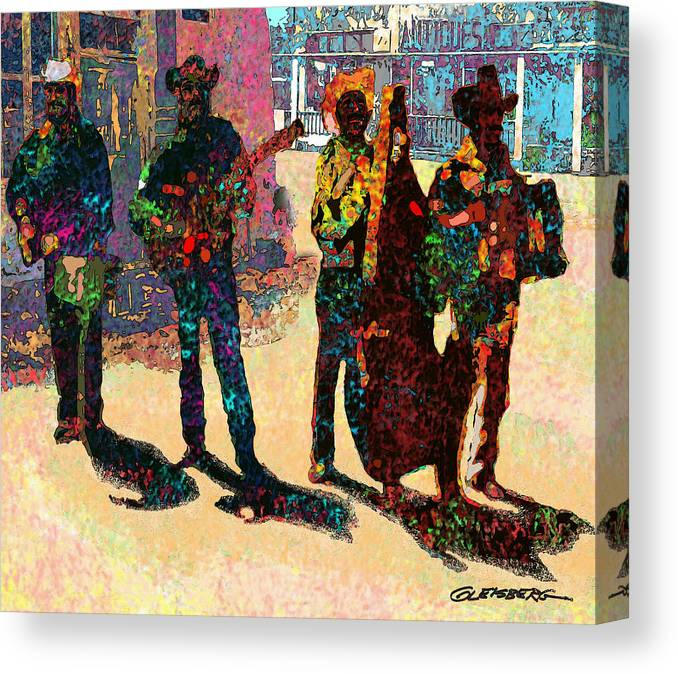 Mexican Conjunto Canvas Print featuring the digital art Mexican Conjunto II by Craig A Christiansen