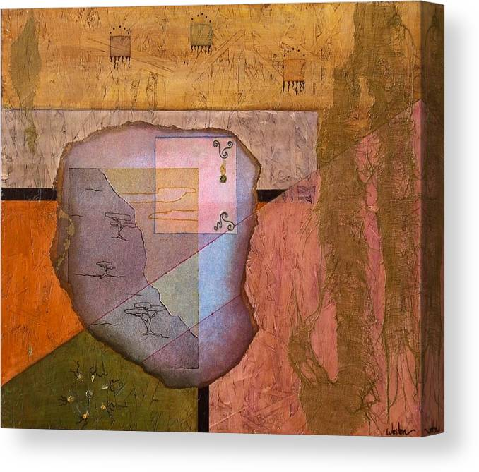 Abstract Landscape Canvas Print featuring the painting Pheromones by Katherine Weston