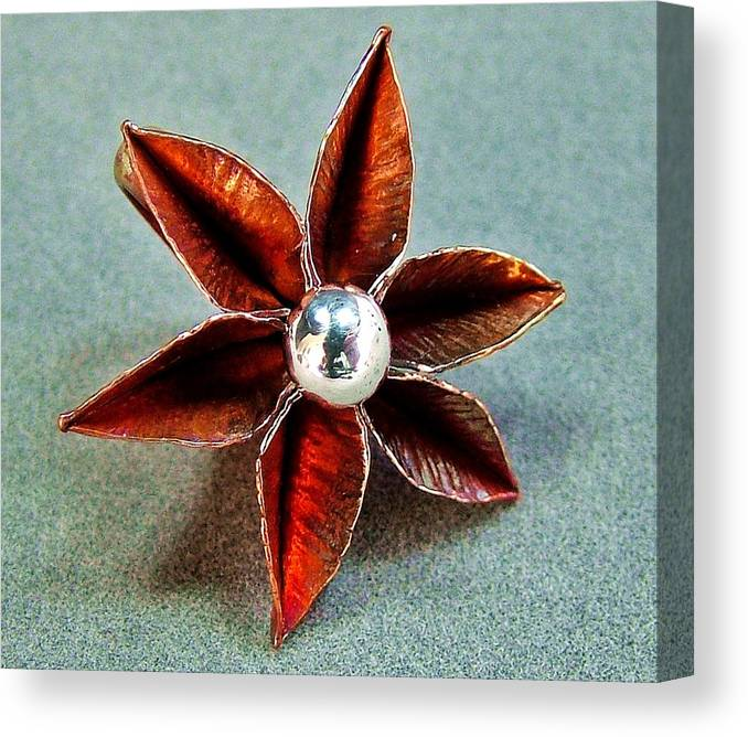 Poinsettia Canvas Print featuring the jewelry Poinsettia Flower by Stan Mowatt
