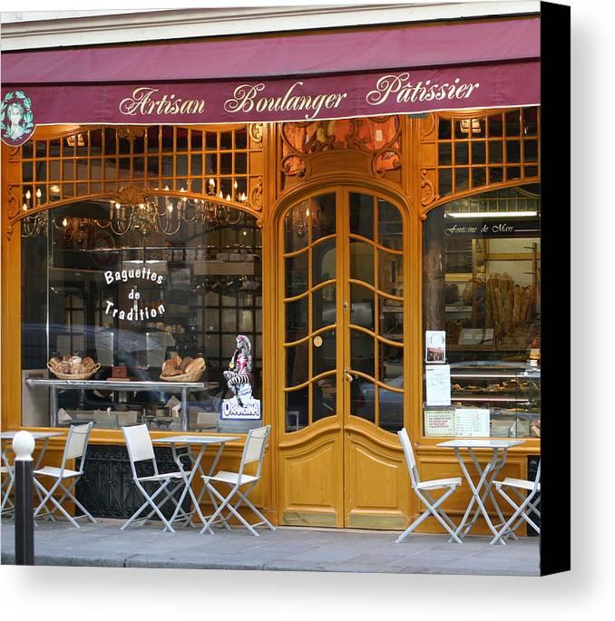 Paris Canvas Print featuring the photograph Boulangerie by A Morddel