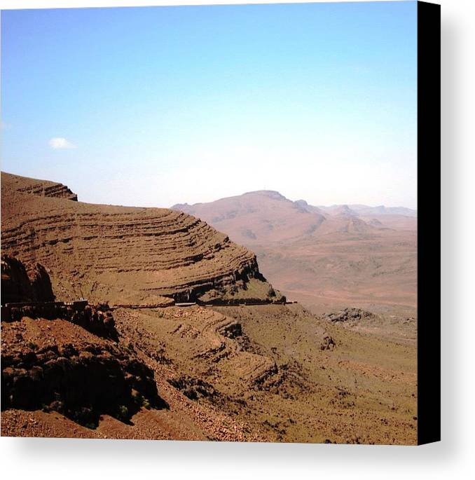 Morocco Canvas Print featuring the photograph God's Fingerprint 20 by Teresa Ruiz