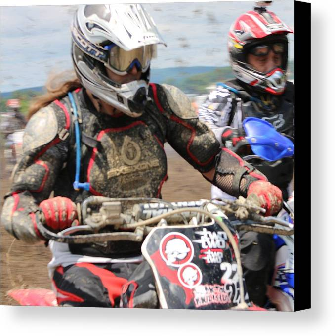 Dirt Bike Canvas Print featuring the photograph Hole Shot by Jessi Boise