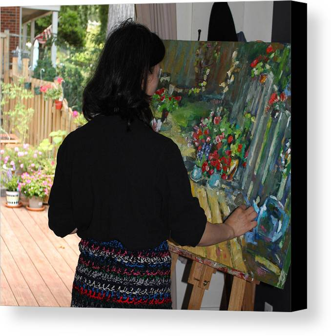 Behind The Scene Canvas Print featuring the photograph Painting My Backyard 2 by Becky Kim