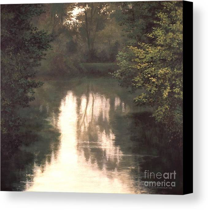 Landscape Canvas Print featuring the painting Solitude by Michael Swanson
