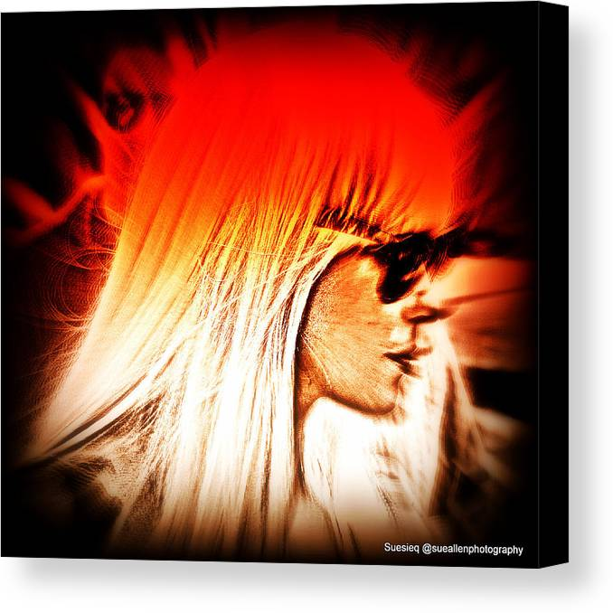 Didital Canvas Print featuring the photograph Sunburst by Sue Rosen