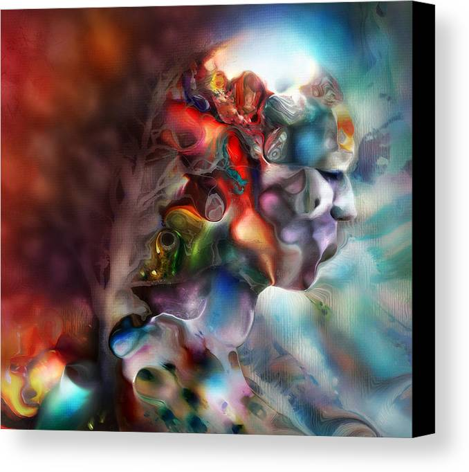 Dream Canvas Print featuring the digital art Become One by S Csilla