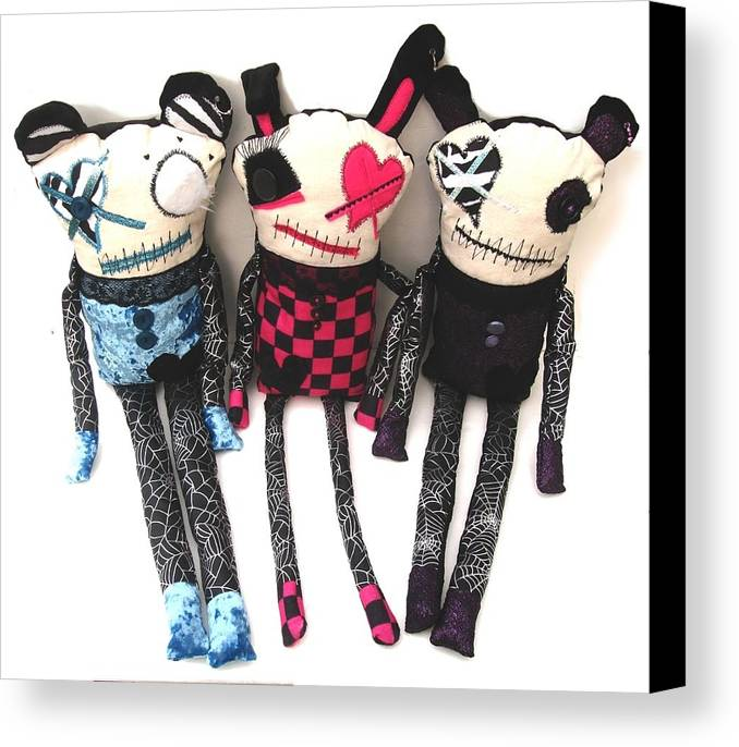 Art Canvas Print featuring the sculpture The Ax Trio by Oddball Art Co by Lizzy Love