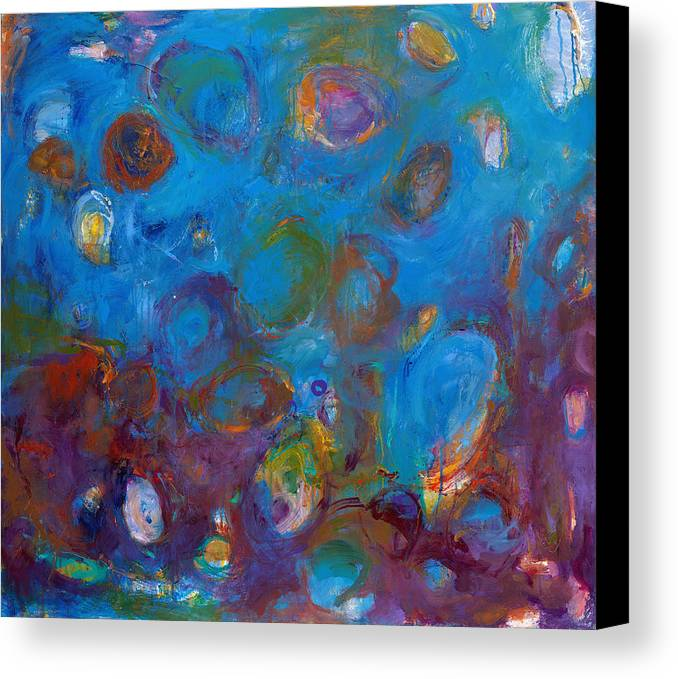Abstract Expressionistic Canvas Print featuring the painting Truth In Dreams I by Johnathan Harris