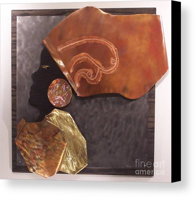 Copper Canvas Print featuring the relief Queen by Jeff Williams
