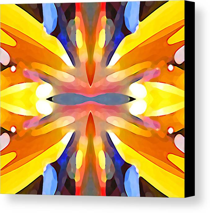 Abstract Art Canvas Print featuring the painting Abstract Paradise by Amy Vangsgard
