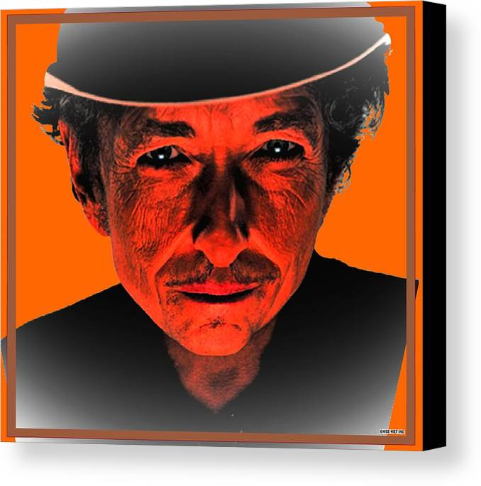 Bob Canvas Print featuring the photograph Dylan Sixty Eight by Gabe Art Inc