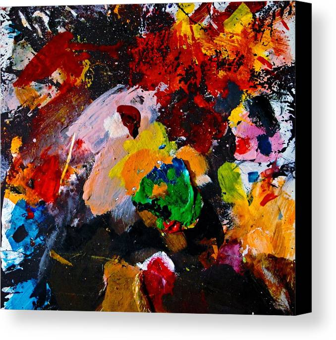 Abstract Canvas Print featuring the painting Happy Harmony by Natalie Holland