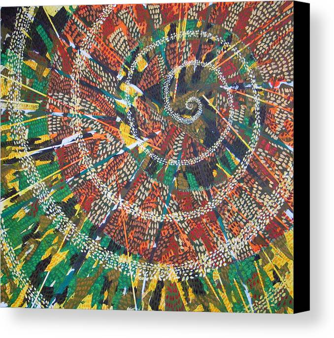 Non-representational Canvas Print featuring the painting Microcosm Xiv by Rollin Kocsis