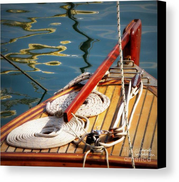 Sailing Canvas Print featuring the photograph Sailing Dories 4 by Lainie Wrightson