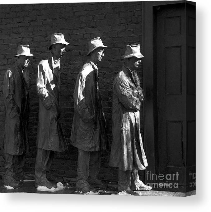 Wait Canvas Print featuring the photograph Waiting For Bread by Mark Szep