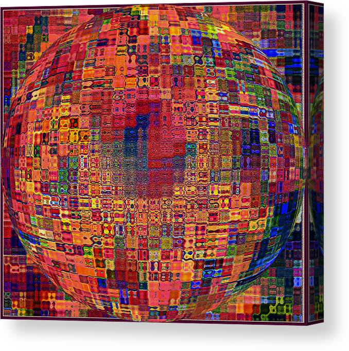Abstract Canvas Print featuring the photograph Mosiac Sphere by Mindy Newman