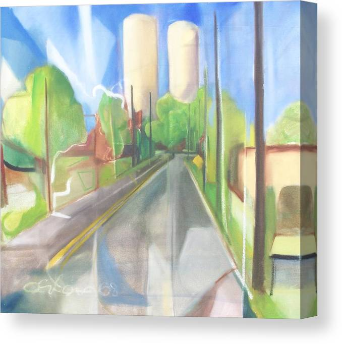 Painting Canvas Print featuring the painting Bergen Turnpike by Ron Erickson