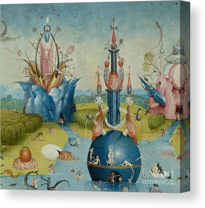 Detail From The Garden Of Earthly Delights Central Panel Canvas Print