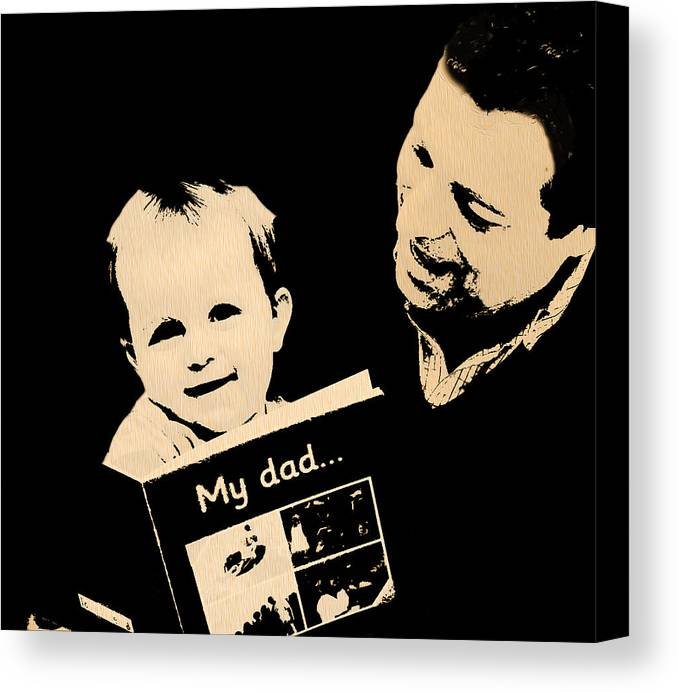 Day Canvas Print featuring the photograph Father And Child by Manjot Singh Sachdeva