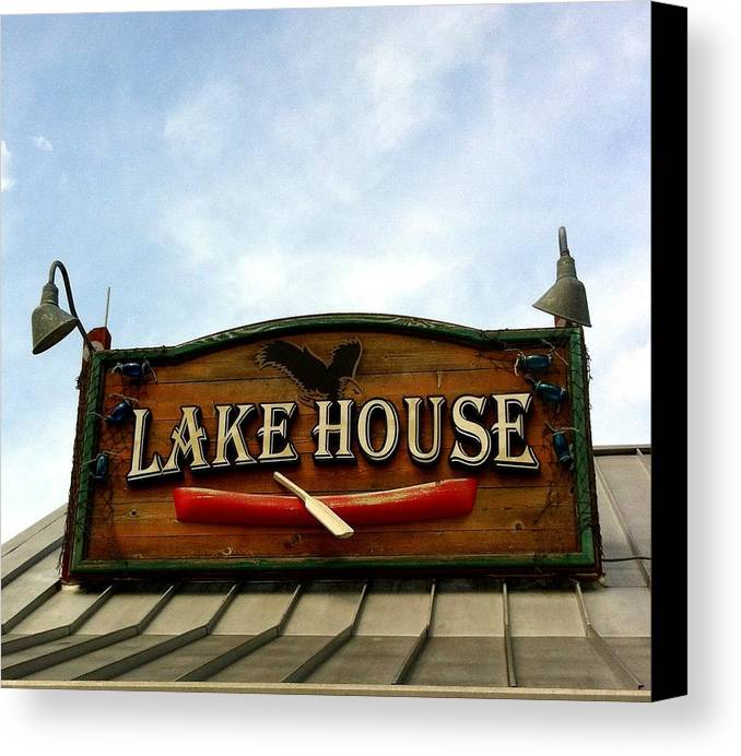 Lake House Canvas Print featuring the photograph Lake House by Marian Palucci-Lonzetta