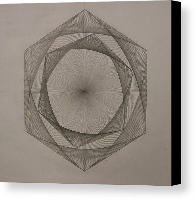 Fractal Canvas Print featuring the drawing Solar Spiraling by Jason Padgett